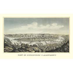 Veduta antica USA: Pittsburgh 1874.