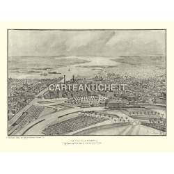 Veduta antica USA: Providence 1896.