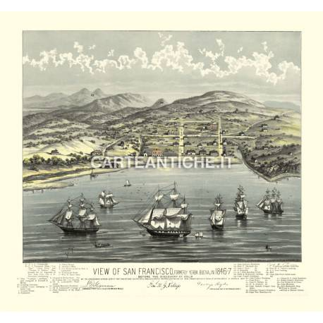 Veduta antica USA: San Francisco 1847.