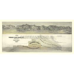 Veduta antica USA: miniere e città nel 1875.
