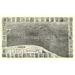 Veduta antica USA: Philadelphia 1885.