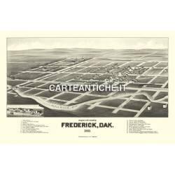 Veduta antica USA: Frederick 1883.