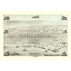 Veduta antica USA: Galveston 1871.