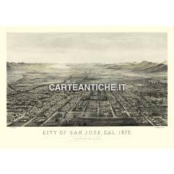 Veduta antica USA: San Jose 1875.