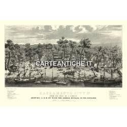 Veduta antica USA: Sacramento 1850