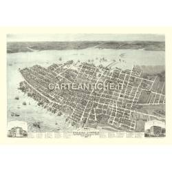 Veduta antica USA: Charleston 1874.