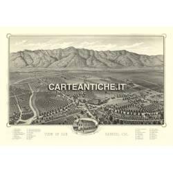 Veduta antica USA: San Gabriel 1893.