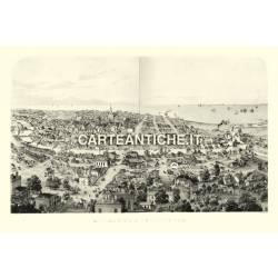 Veduta antica USA: Milwaukee 1854
