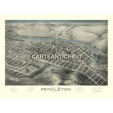 Veduta antica USA: Pendleton 1890.