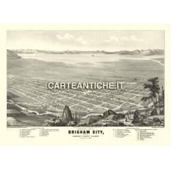 Veduta antica USA: Brigham 1875