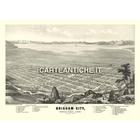 Veduta antica USA: Brigham 1875.