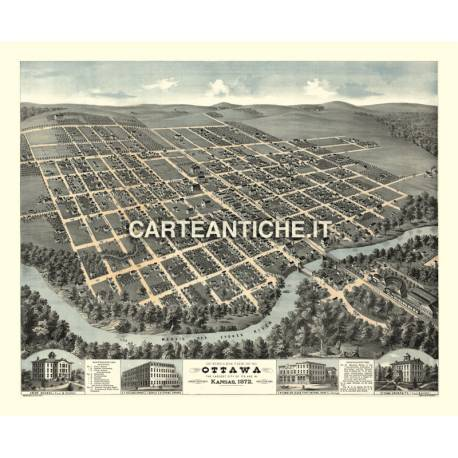 Veduta antica USA: Ottawa 1872.