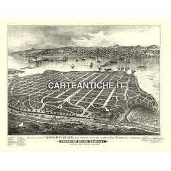 Veduta antica USA: Coronado beach 1880.