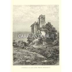 Veduta antica Svizzera: Castello di S.Anna a Rorschach