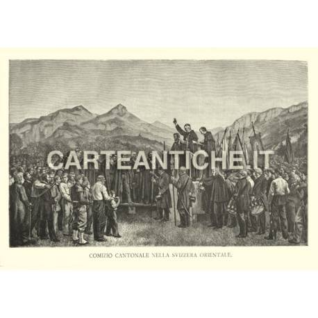 Veduta antica: Comizio Cantonale nella Svizzera Orientale