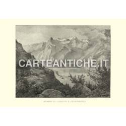 Veduta antica Svizzera: Axenstein al Uri-Rothstock