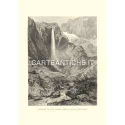 Veduta antica Svizzera: Cascata di Faulenbach