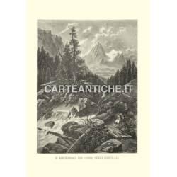 Svizzera: Reichenbach che corre verso Rosenlaui.