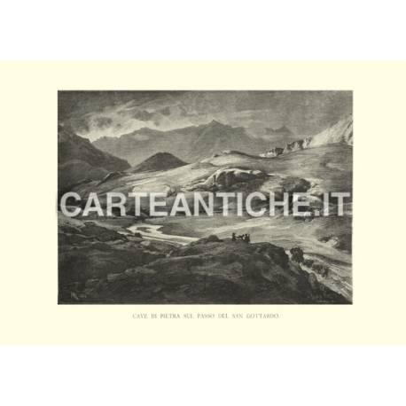 Svizzera: cave di pietra sul passo del San Gottardo