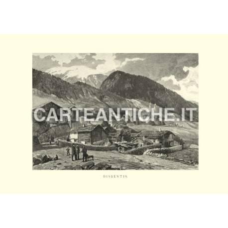 Veduta antica Svizzera: Dissentis