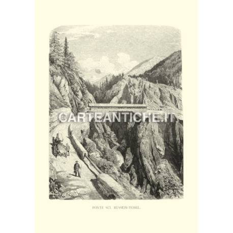Svizzera: Ponte sul Russein-Tobel