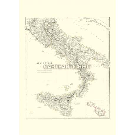 Mappa Sud Italia 1832