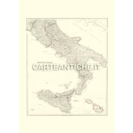 Mappa Sud Italia 1844