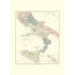 Mappa antica Sud Italia 1901