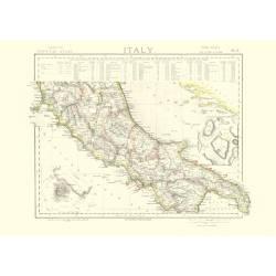 Mappa Italia centrale nel 1883
