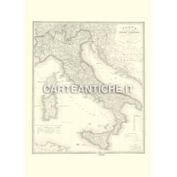 Carta dell'Italia Geografica e postale (1866)