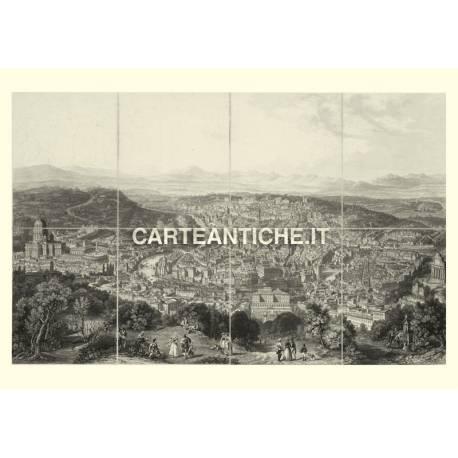 Veduta antica Roma 1869