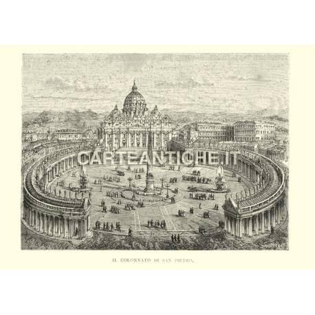 Il colonnato di San Pietro - Roma