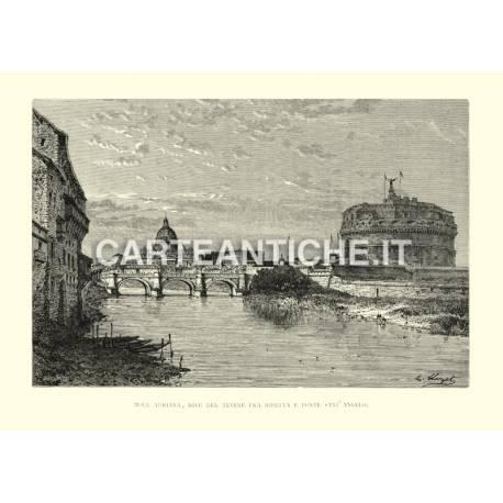 Mole Adriana, rive del Tevere fra Ripetta e Ponte Sant'Angelo.