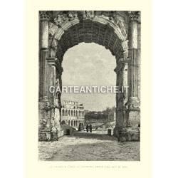 Il Colosseo e l'Arco di Costantino veduto dall'Arco di Tito.