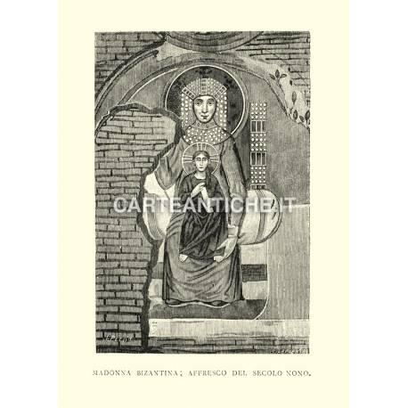 Madonna Bizantina - Affresco del secolo nono