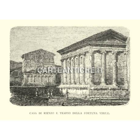 Casa di Rienzo e Tempio della Fortuna Virile.