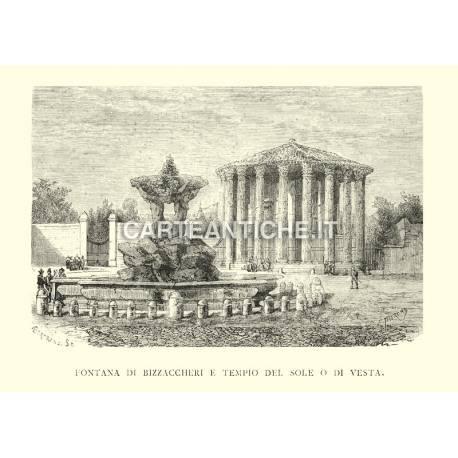 Fontana di Bizzaccheri e Tempio del Sole o di Vesta