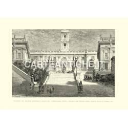 Facciata del Palazzo Senatorio - Piazza del Campidoglio