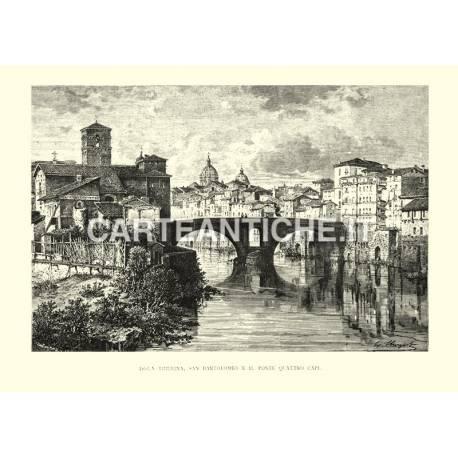 Isola Tiberina - San Bartolomeo e il Ponte Quattro Capi