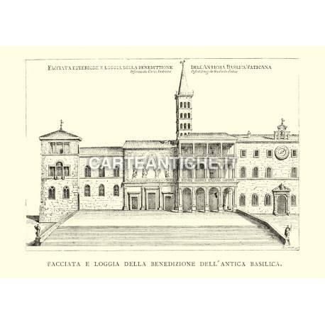Basilica Vaticana antica - facciata esterna.