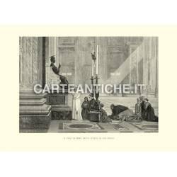 Il papa ai piedi della statua di San Pietro