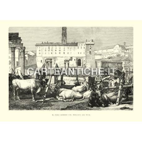 Il foro romano col mercato dei buoi.