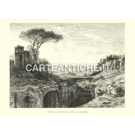 Rovine del palazzo dei Cesari sul Palatino.