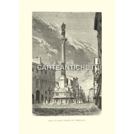 Piazza di Spagna - Colonna dell'Immacolata.