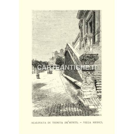 Scalinata di Trinità de' Monti - Villa Medici.