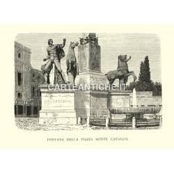 Fontana della piazza Monte Cavallo