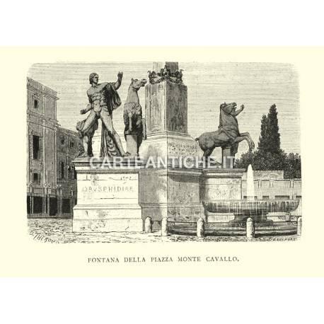 Fontana della piazza Monte Cavallo.