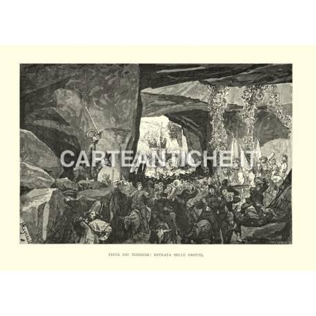 Festa dei tedeschi: entrata nelle grotte.