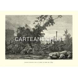 Giardini Borghese dopo la difesa di Roma nel 1849