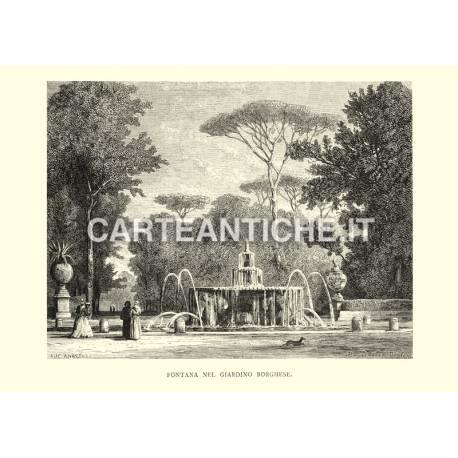 Fontana nel Giardino Borghese